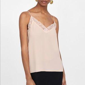 Zara Lingerie Style Top